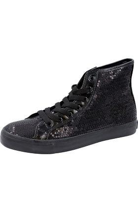 Footwear by Cherokee Women's Hi Top Sequin Lace Up Shoe
