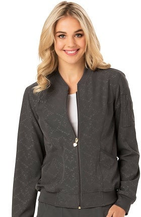 Break On Through by heartsoul Women's U Da Bomb Solid Bomber Scrub Jacket