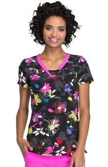 heartsoul Women's V-Neck Floral Print Top