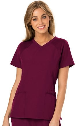 Break On Through by heartsoul Women's Love 2 Love U V-Neck Solid Scrub Top
