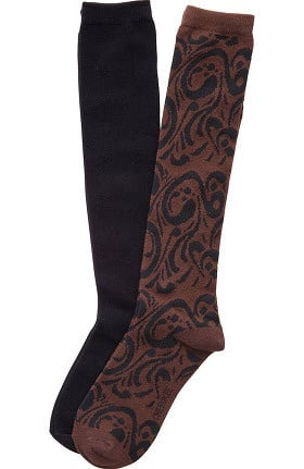 Footwear by Cherokee Women's Knee High Socks 2Pr