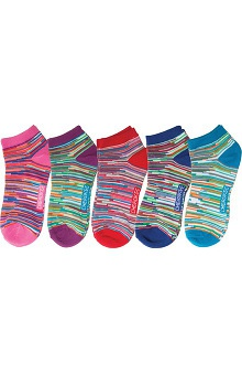 Footwear by Cherokee Women's No Show Multi Stripe Sock 5Pr