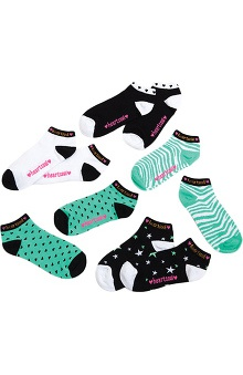 Footwear by heartsoul Women's No Show Socks 5 Pack