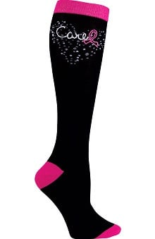 Footwear by heartsoul Women's Pink Ribbon Knee High Sock