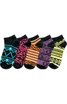 Cherokee Women's Geometric Print No Show Socks 5 Pack