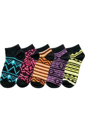 Cherokee Women's Geometric Print No Show Socks 5 Pack