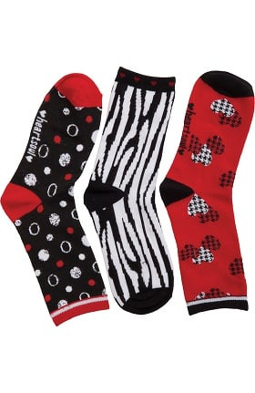 heartsoul Women's Crew Socks 3 Pack