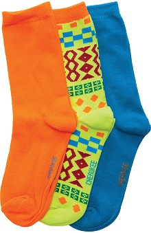 Footwear by Cherokee Women's Orange Crush Crew Socks-3 Pair