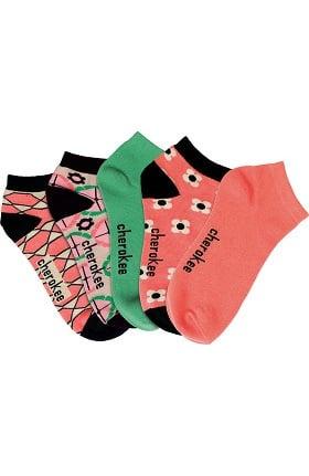 Footwear by Cherokee Women's Printed No Show Socks 5 Pack