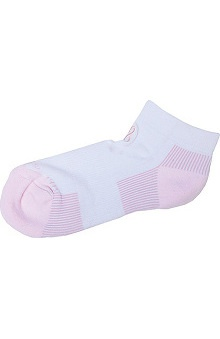 Footwear by Cherokee Women's Pink Ribbon  Ankle Bamboo Fiber Socks