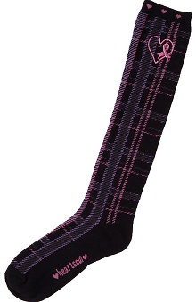 Breast Cancer Awareness by Cherokee Women's Pink Ribbon Knee High Sock