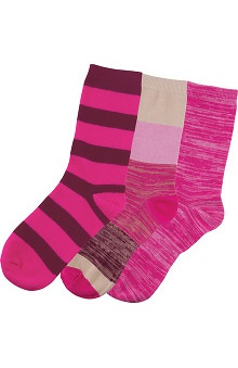 Cherokee Women's Plenty of Pink Crew Sock 3 Pair Pack