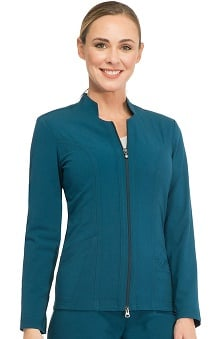 Sapphire Scrubs™ with Antimicrobial Certainty Women's Notched Solid Scrub Jacket