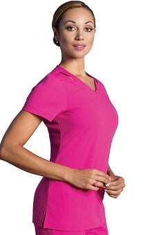 Sapphire Scrubs™ with Antimicrobial Certainty Women's Paris V-Neck Solid Scrub Top