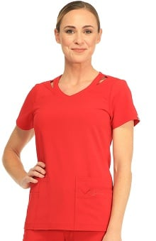 Sapphire Scrubs™ Women's Paris V-Neck Solid Scrub Top