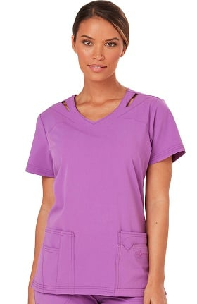 Clearance Sapphire Scrubs™ Women's Paris V-Neck Solid Scrub Top