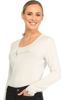 Sapphire Scrubs™ with Antimicrobial Certainty Women's Chelsea Long Sleeve Knit Underscrub