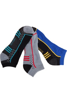 Footwear by Cherokee Men's No Show Sock 3 Pack