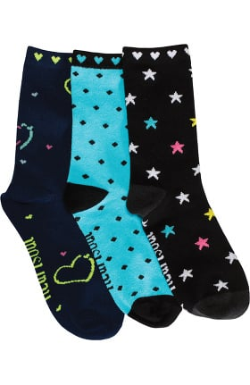 heartsoul Women's Sugar Fix Crew Socks 3 Pack