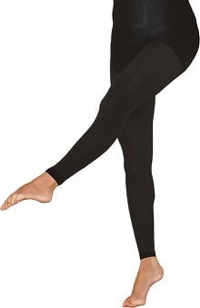 Therafirm by Cherokee Women's 10-15Hg Footless Opaque Tights
