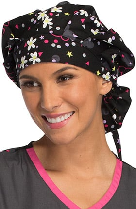 Tooniforms by Cherokee Unisex Minnie Mouse Print Bouffant Scrub Hat