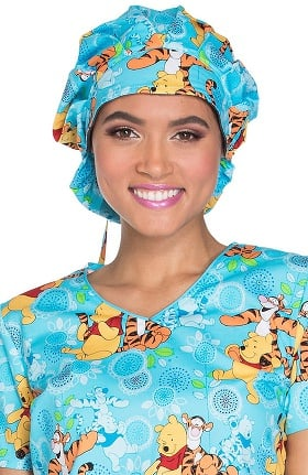 Clearance Tooniforms by Cherokee Unisex Winnie the Pooh Print Scrub Hat