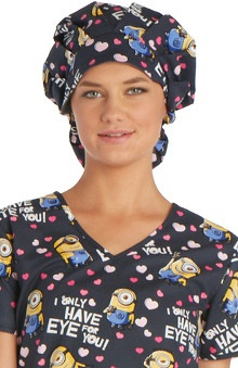 Tooniforms by Cherokee Women's Printed Bouffant Scrub Hat