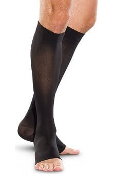 Therafirm by Cherokee Unisex 20-30Hg Knee-High Open Toe Compression Sock