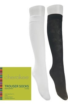 Footwear by Cherokee Women's 8 mmHg Compression Trouser Socks 3 Pair