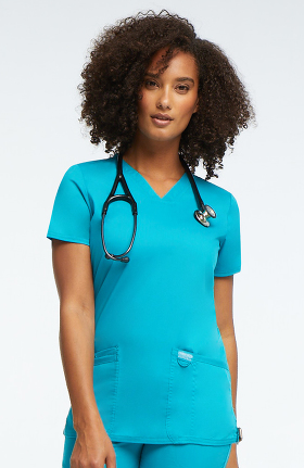 Revolution by Cherokee Workwear Women's V-Neck Solid Scrub Top