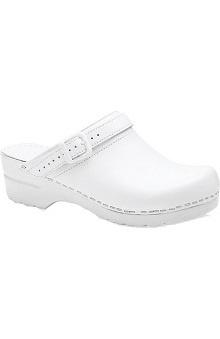 dansko slip resistant : Stapled Clog by Dansko Women's Ingrid Box Leather Nursing Shoes