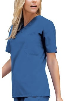 4XL: Dickies Everyday Scrubs Unisex V-Neck Solid Scrub Top