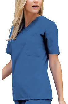 XSM: Dickies Everyday Scrubs Unisex V-Neck Solid Scrub Top