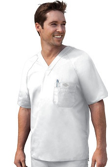 Clearance Everyday Scrubs by Dickies Men's Raglan Sleeve Solid Scrub Top
