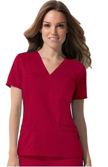Gen Flex by Dickies Women's Junior Youtility Solid Scrub Top