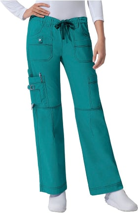 Gen Flex by Dickies Women's Youtility Drawstring Elastic Waist Scrub Pant