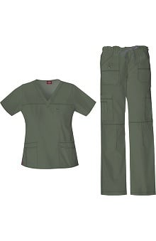 Gen Flex by Dickies Women's Junior Scrub Set