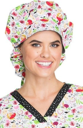 Fashion Prints by Dickies Women's Bouffant Print Scrub Hat