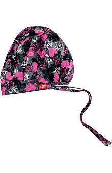 Clearance Everyday Scrubs Signature By Dickies Women's Bouffant Print Scrub Hat