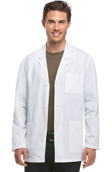 "EDS Professional Whites by Dickies with Certainty Plus Antimicrobial and Fluid Barrier Fabric Technology Men's Consultation 31"" Lab Coat"