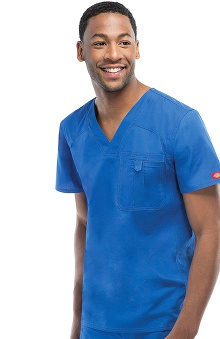 Everyday Scrubs Signature Stretch by Dickies With Antimicrobial Certainty Men's V-Neck Scrub Top