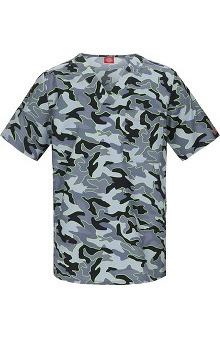 Clearance Gen Flex by Dickies Men's V-Neck Print Scrub Top
