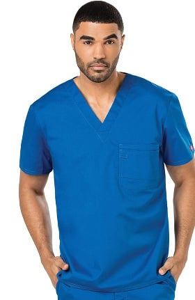 Clearance Evolution NXT by Dickies Men's V-Neck Solid Scrub Top