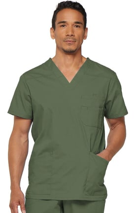 Everyday Scrubs Signature by Dickies Men's V-Neck Solid Scrub Top