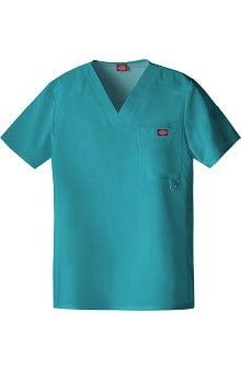 Clearance Xtreme Stretch by Dickies Men's V-Neck Solid Scrub Top