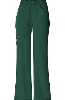 Clearance Xtreme Stretch by Dickies Women's Junior Elastic Waist Solid Scrub Pant