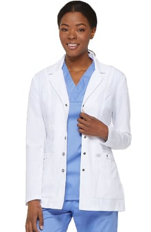 "Xtreme Stretch by Dickies Women's Snap Front 28"" Lab Coat"