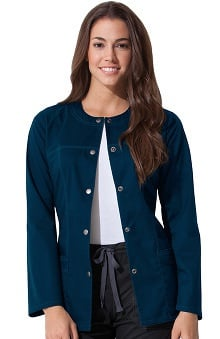 Gen Flex by Dickies Women's Crew Neck Solid Scrub Jacket