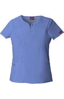 Xtreme Stretch by Dickies Women's Notched Round Neck Solid Scrub Top