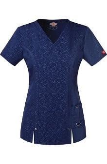Clearance Xtreme Stretch by Dickies Women's V-Neck Solid Scrub Top